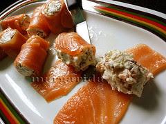 El rollito de salmón