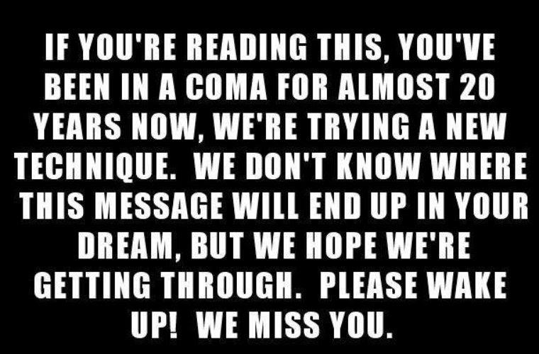 Please Wake Up From Coma Funny Pictures Quotes Memes Funny