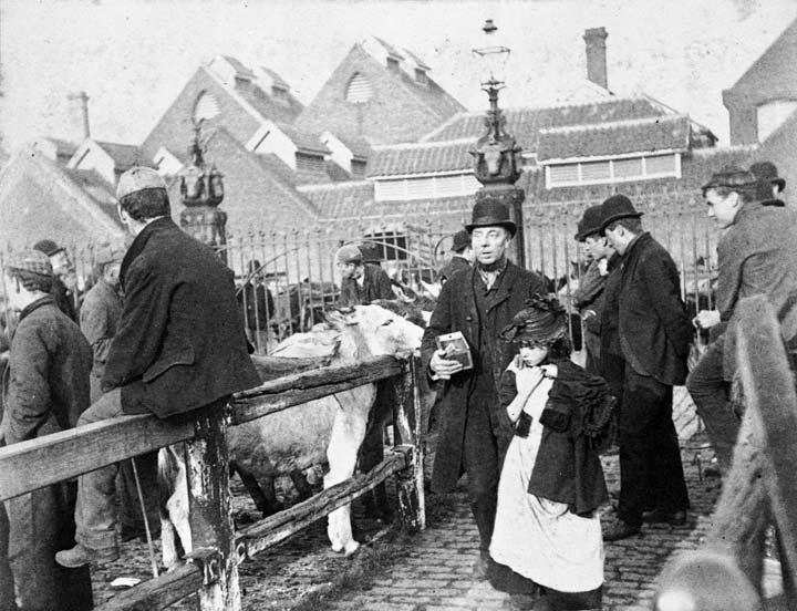Blind man at the Caledonian Cattle Market, c. 1895 by Paul Augustus Martin
