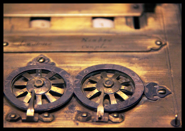 Detail - Six-figure calculating machine by Blaise Pascal, 1642