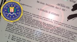 Ein FBI-Papier von 1947 spricht von UFOs aus anderen Dimensionen (Bild: FBI / WikiCommons / gemeinfrei)