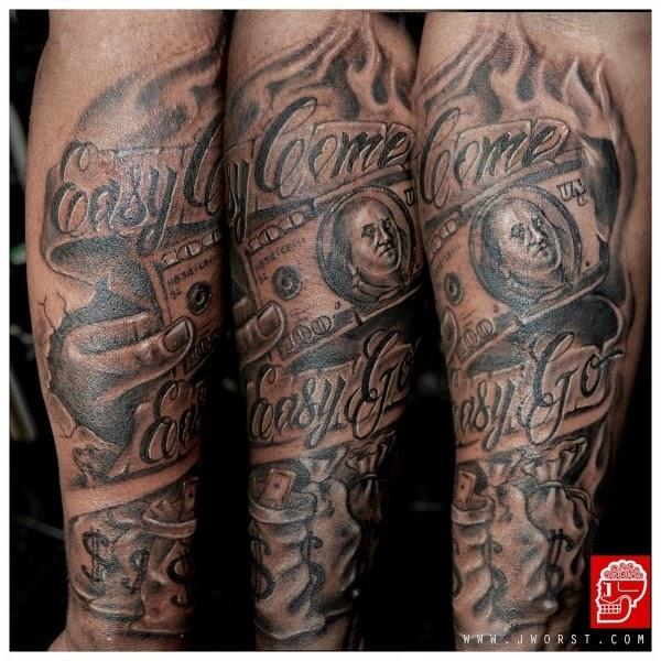 Half Sleeve Gangster Forearm Tattoos For Men Tattoo Sleeve Ideas