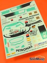Calcas 1/24 Racing Decals 43 - Mercedes SLS GT3 Petronas Nº 86 - Maximilian Gotz + Maximilian Buhk + Jazeman Jaafar - 24 Horas de SPA 2014 - para kit de Fujimi FJ12565 y FJ12569 image