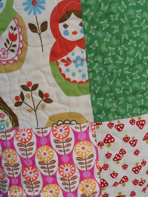 Matryoshka quilting detail