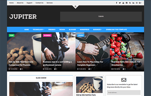 Jupiter Blogger Template