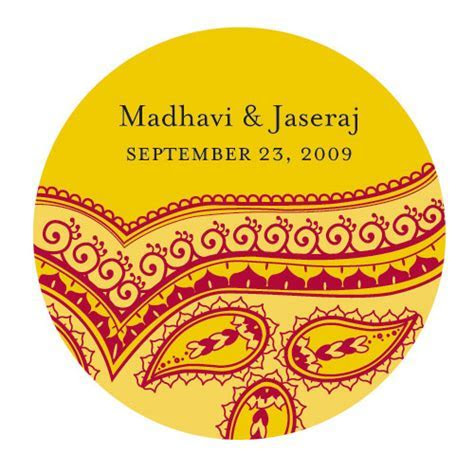 Indian Theme Favour Stickers: Weddingfavours.ca