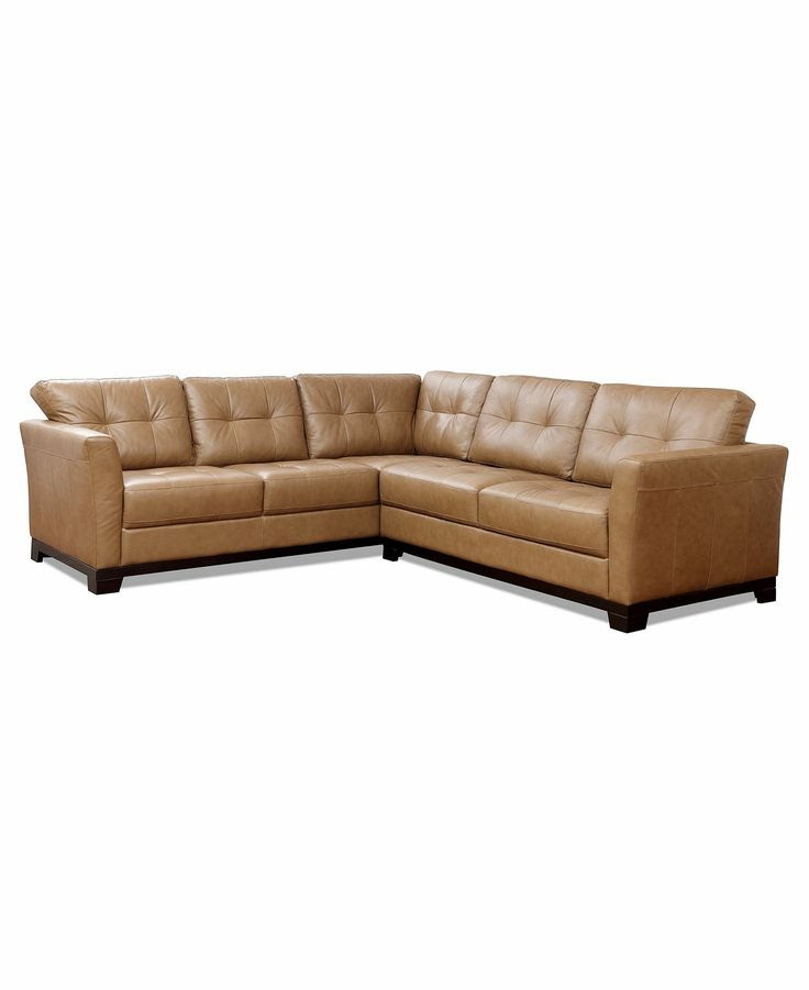 martino leather sectional   LR