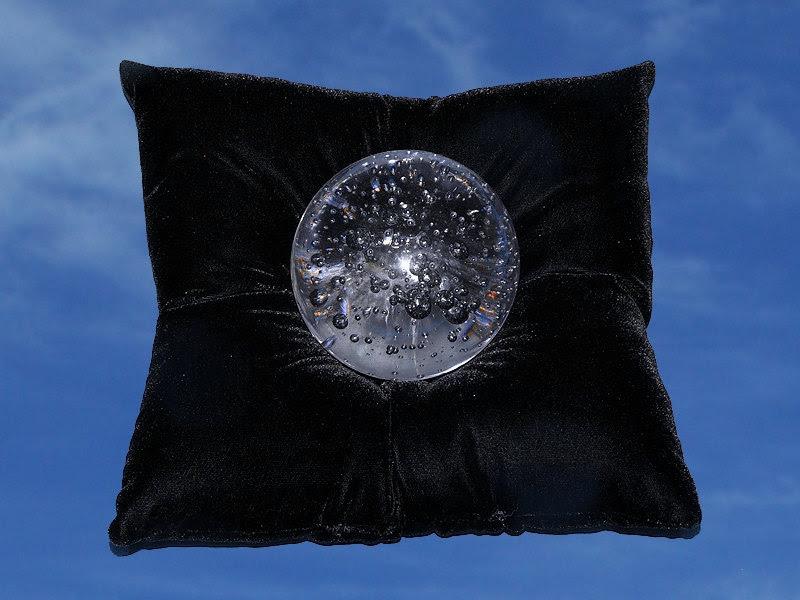 Large Black velvet Crystal Ball Pillow by dragonfaecreations2