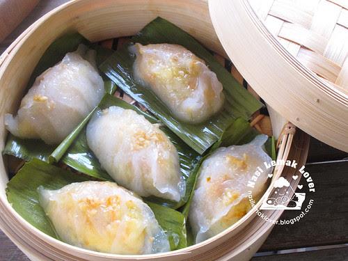 Steamed vegetable dumplings (Chai Kueh) 菜粿
