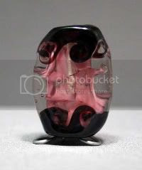 Purple Twist Lampwork Bead