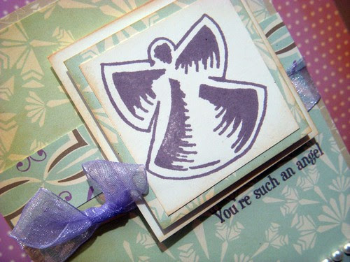 SSD Angel and sentiment stamp