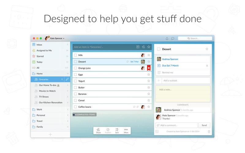 Wunderlist: To-Do List & Tasks on the Mac App Store
