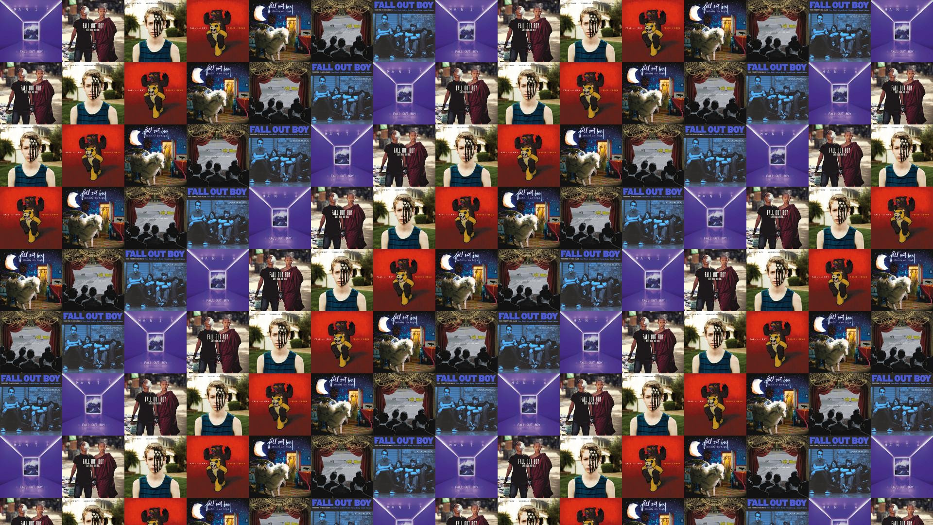 Fall Out Boy Mania Save Rock Roll American Wallpaper Tiled