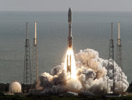 A United Launch Alliance Atlas V rocket carrying NASA's Mars Science Laboratory (MSL) Curiosity rover lifts off from Launch Complex 41 at Cape Canaveral Air Force Station in Cape Canaveral, Fla., Saturday, Nov. 26, 2011. The rocket will deliver a science laboratory to Mars to study potential habitable environments on the planet. (AP Photo/Terry Renna)