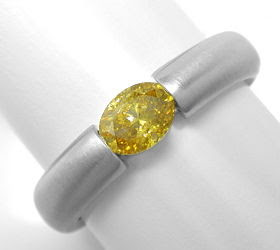 Originalfoto SPANN-RING 0,56 DIAMANT INTENSIVER FANCY ORANGY-GOLDTON
