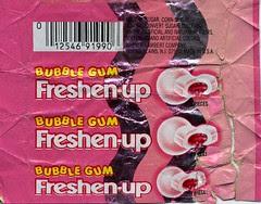 Bubble Gum Freshen-up wrapper