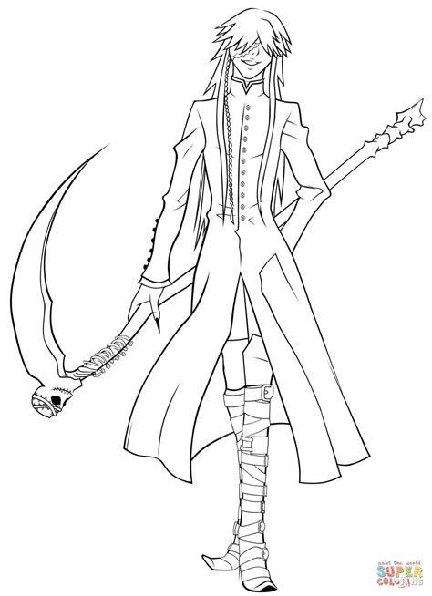 undertaker grim reaper coloring page  printable