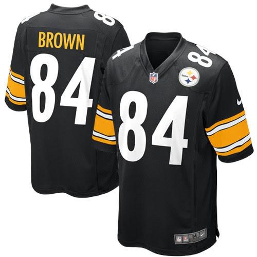 Antonio Brown Pittsburgh Steelers Nike Game Jersey - Black
