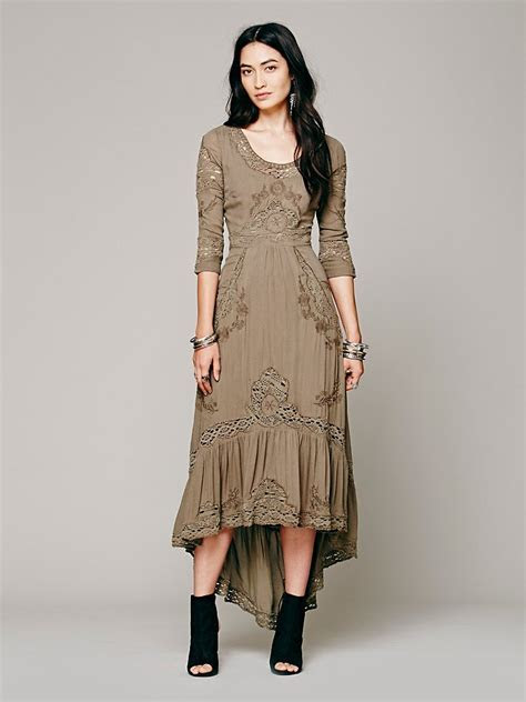 Lyst   Free People Mexican Wedding Dress in Green