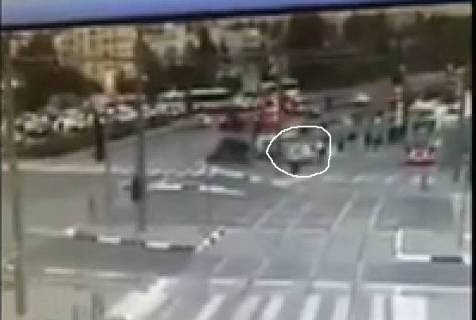 Car hitting people
