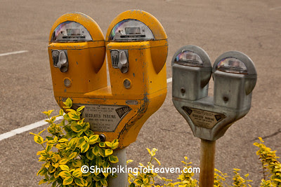 Old-Fashioned Duncan Parking Meters, Pomeroy, Ohio