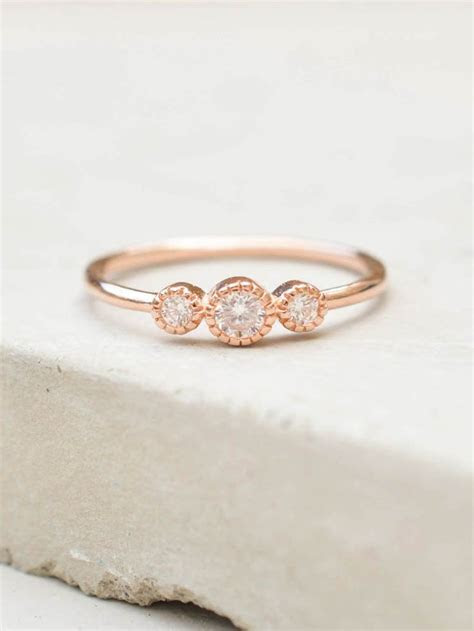 Very Thin Engagement Ring Band   Engagement Ring USA