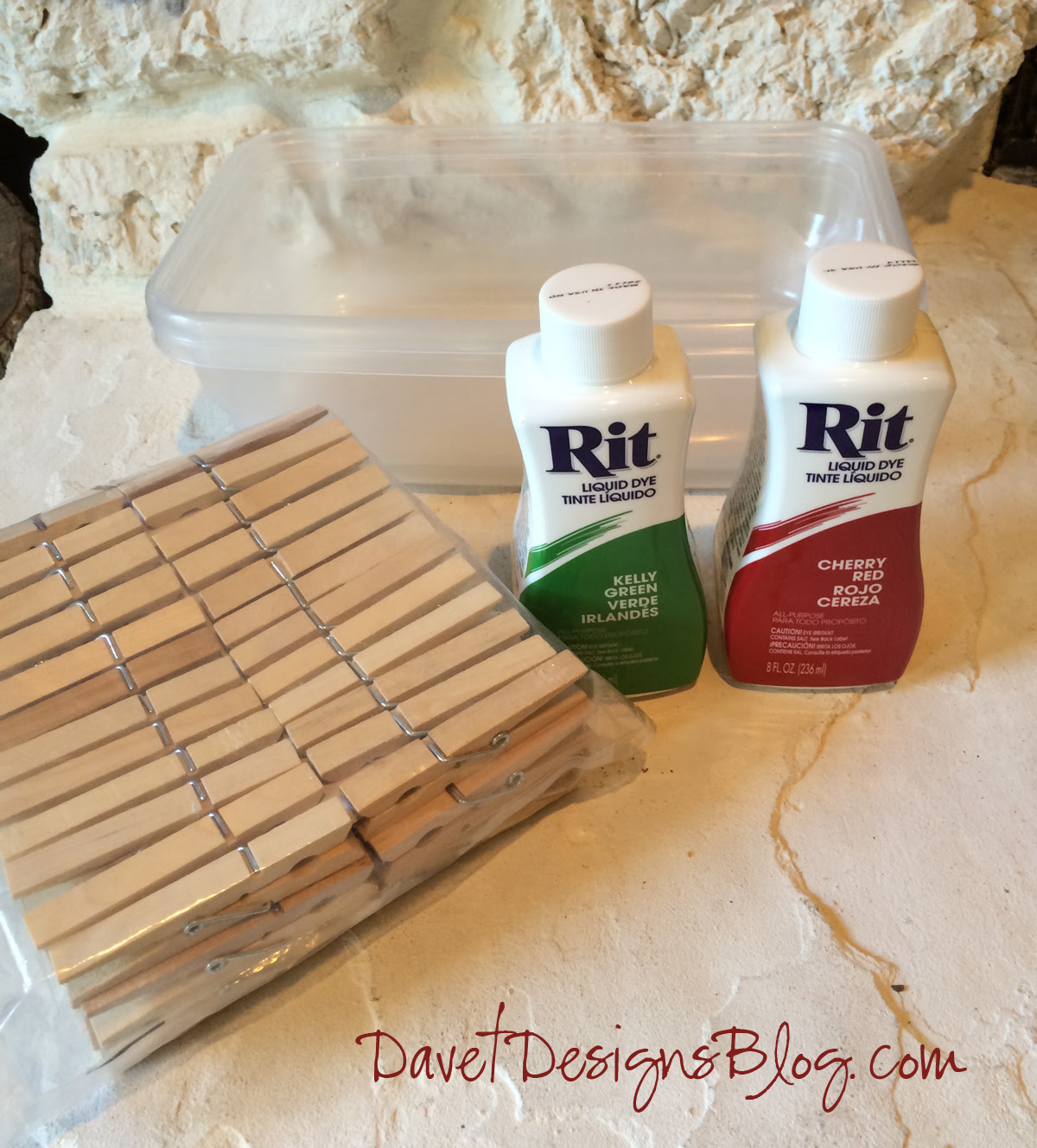 How to dye clothes pins with RIT dye tutorial