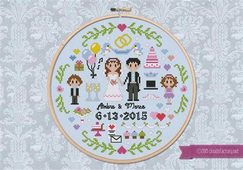 Wedding Sampler   Digital Cross Stitch Pattern