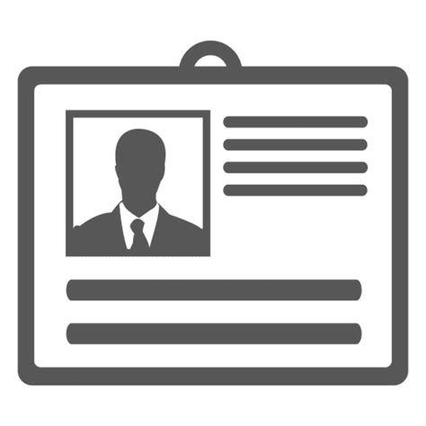 identity card icon transparent png svg vector