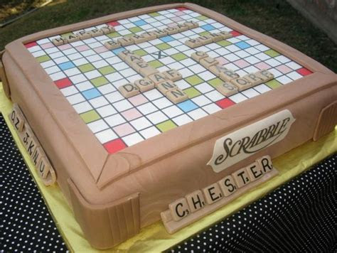 Scrabble birthday cake (1 comment) Hi Res 720p HD