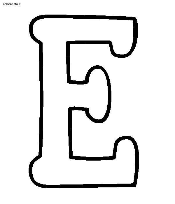 Alfabeto Stampatello Maiuscolo Disegni Per Bambini Da Colorare
