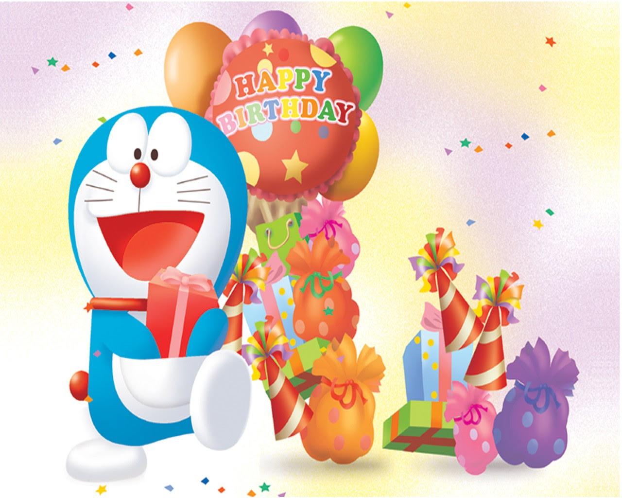 ラブリー Doraemon Birthday Background - ササゴタメ