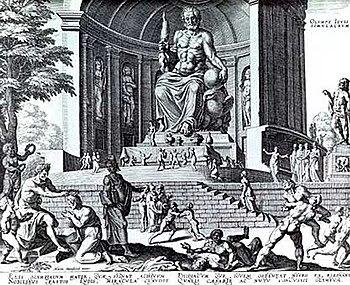 Φανταστική απεικόνιση του Αγάλματος του Ολυμπίου Διός