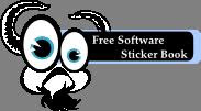 gnu software sticker book