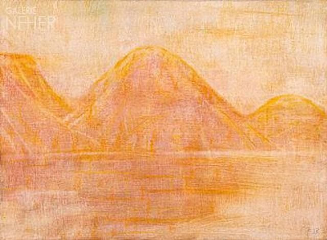 Christian Rohlfs, Gelbe Seelandschaft
