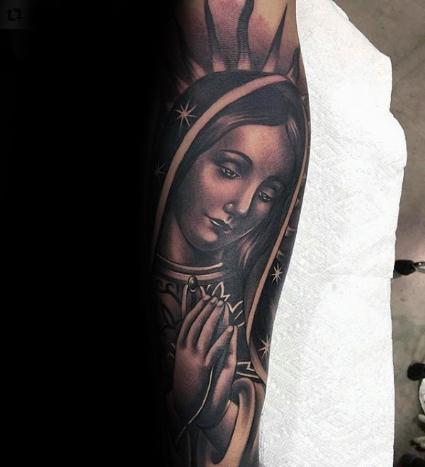 41 Virgin Mary Tattoos With Religious Connections And Meanings