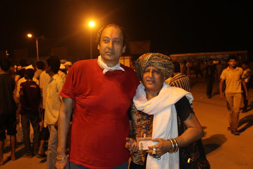 Subir Mukerjee And Me At Durga Visarjan Juhu Beach by firoze shakir photographerno1