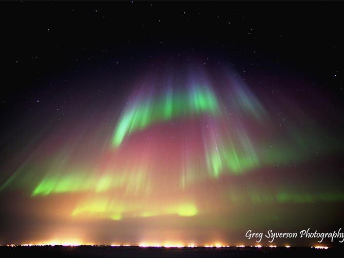 Aurora,  Prudhoe Bay Alaska. March 17, 2013