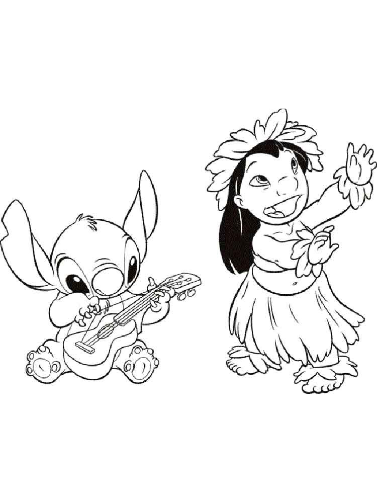 lilo and stitch coloring pages 8