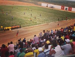 Estádio Barretão, em Ceará-Mirim, recebe novo jogo-teste (Foto: Alan Oliveira/Cedida)