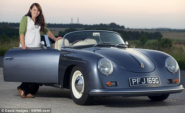 Αυτοκίνητο καρύδι: Megan μετατραπεί £ 200 της VW Beetle σε £ 25.000 Porsche ρεπλίκα