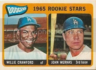 #453 Dodgers Rookies: Willie Crawford and John Werhas
