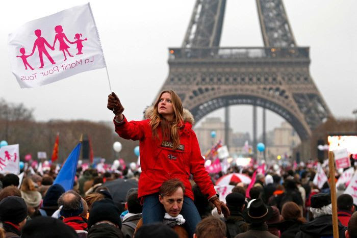 Huge Turnout In Paris For Anti Marriage Protest Abc