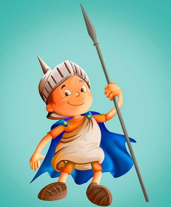 Diseño de personaje. Romanito por Hache Holguín