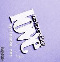 "Чипборд от Wycinanka -  Надпись ""neverending love"", 4 x 5,8 см. - ScrapUA.com"