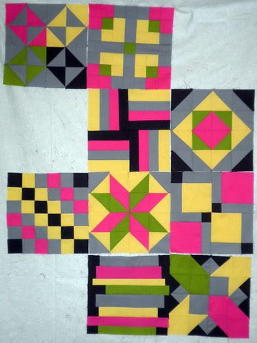 Blocks 1 through 7 plus 2