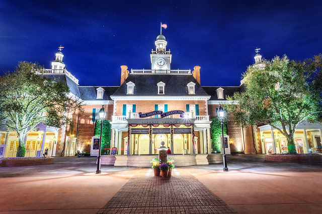 The American Adventure at Night