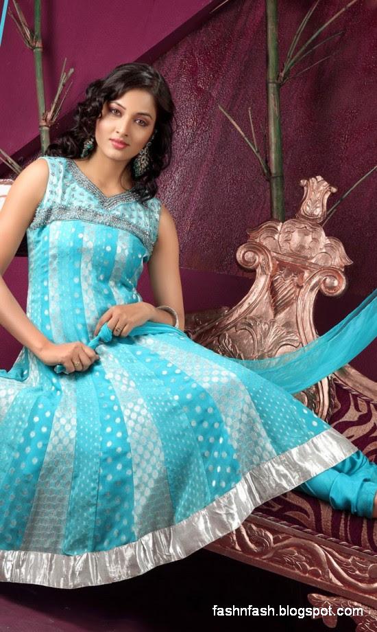 Anarkali Umbrella Fancy Frocks-Indian-Pakistani New Latest Dress Designs Collection 2013-4