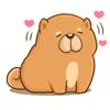 Quang Tran Vinh - Chow Chow Dog Emoji Sticker artwork