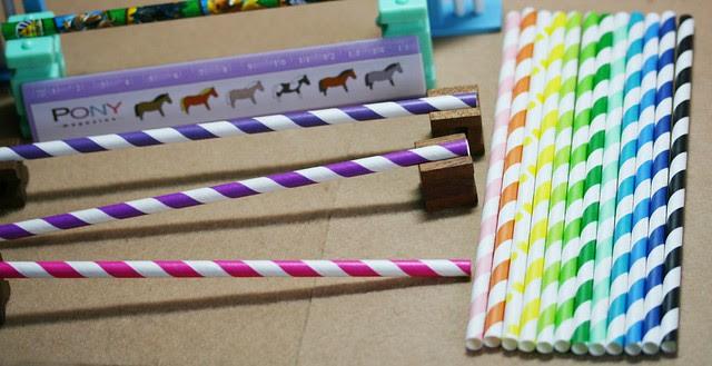 Tiger paper straws - jump poles